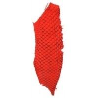 Fish leather - suède rood +- 23 x 6,5 cm  (FSHM-RE)