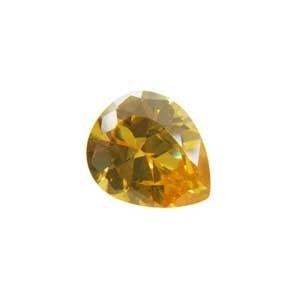 Cubic Zirconia Yellow Diamond: Pear 10 x 12mm Art: CZF-668