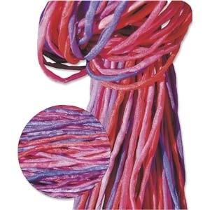 Zijdekoord 2 mm breed rose-paarse tinten (set van 5 strengen)