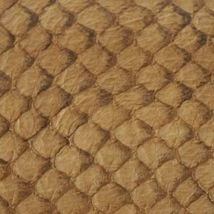 Fish leather - Hazelnut suède. +- 23 x 6,5 cm  (FSHM-HZ)