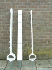 Weide instappaal met stijgbeugel  114 cm