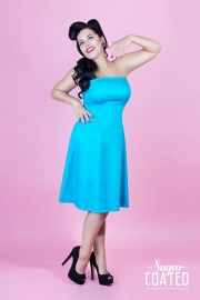 Hotrod Hussy, Julia Dress in Turquoise. Glamrock Original !