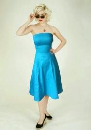 Hotrod Hussy, Julia Dress in Turquoise. Glamrock Original !