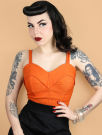 Scandal Clothing, Bombshell Top Pumpkin.