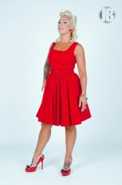 Pinup Couture, Lana Dress in Red Canvas.