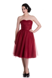 Hell Bunny, Tamara Party Dress in Red in medium.