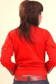 Suicide Glam, Ring Arms Jacket in Red.