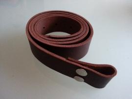 Leather Belt Brown Handmade.