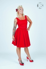 Pinup Couture, Lana Dress in Red Canvas in small.