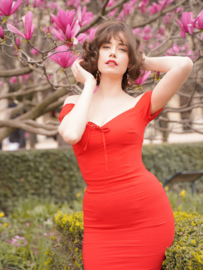 Collectif, Sasha Fishtail Dress in Red.