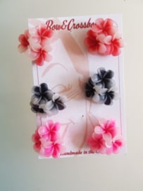 Bow and Crossbones, Flower Earrings.