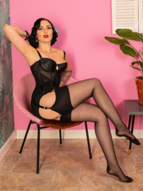 What Katie Did, Retro Seamed Stockings in Black.