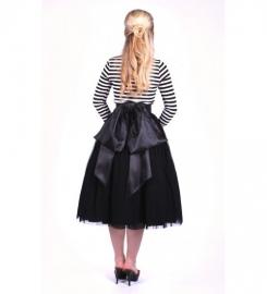 Glamour Bunny, Reversible Skirt in Black.