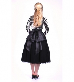Glamour Bunny, Reversible Skirt in Black in medium.