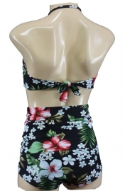 Aloha Beachwear, Bandeau Bikini Hawai Vintage High Waist.