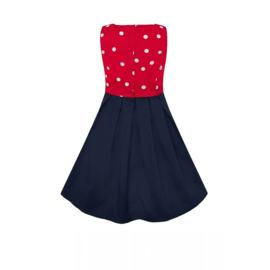 Dolly and Dotty, Annie Polkadot Kids Dress in Red/ White and Navy