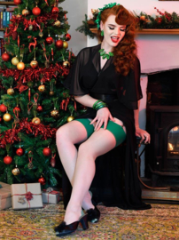 What Katie Did, Seamed Stockings Green Glamour.