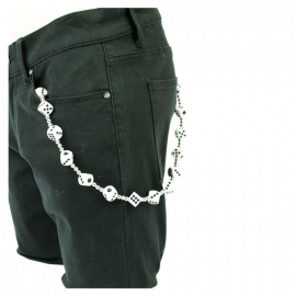 Dice Wallet Chain in White.