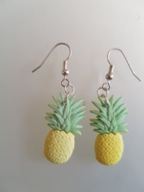 Bow and Corssbones, Pineapple Earrings.