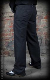 Rumble 59, Vintage Loose Fit Pants Sacramento, Striped Black/ Grey.
