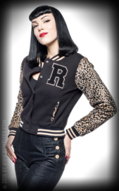 Rumble 59, Ladies Sweat College Jacket Leo Patch.