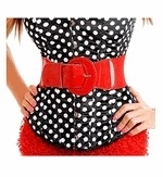 Elastic Belt in Red