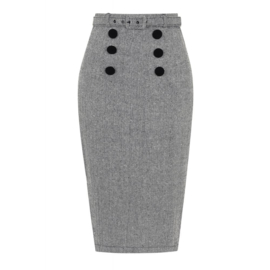 Collectif, Agatha Herringbone Pencil Skirt.