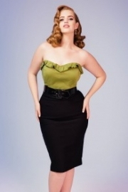Dixiefried, Perfect Pencil Skirt in Black in medium.