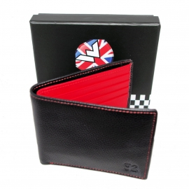 Warrior, Black Leather Wallet Two Tone.