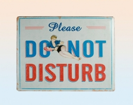 Tin Sign - Do Not Disturb.