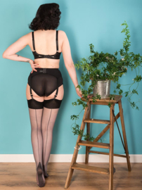 What Katie Did, Seamed Stockings Grey Glamour.