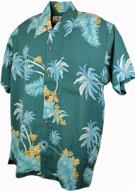 Karmakula, Atlanta Teal Hawaii Shirt.