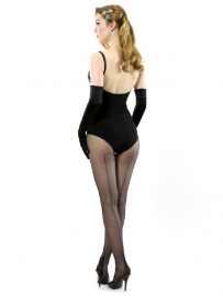 What Katie Did, Retro Seamed Tights in Black