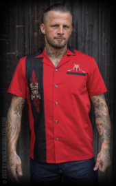 Rumble 59, Lounge Shirt Pinstripe Paradise Red.