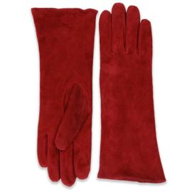 Lindy Bop, Eva Burgundy Suede Gloves.