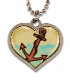 Anchors Away Lucky Charm Necklace.