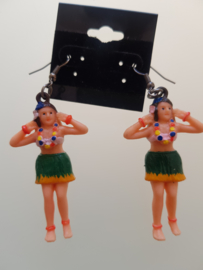 Earrings with Hula girls