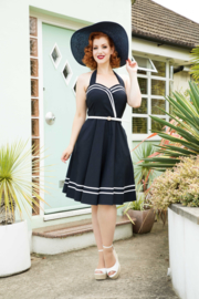 Voodoo Vixen, Charlotte Nautical Halter Dress in Xlarge.