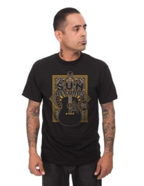 Steady, Sun Crescent Mens Tee Black.