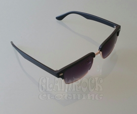Revive, Clubmaster Square in Black / Black Glasses.