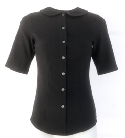 Daisy Dapper, Pan Top in Black,