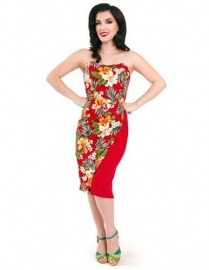 Steady Clothing, Ella Tiki Dress in Red.