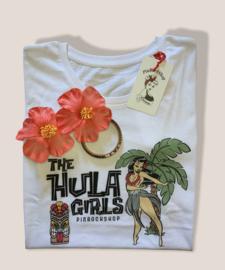 PinRock, Hula Girls Tshirt White.