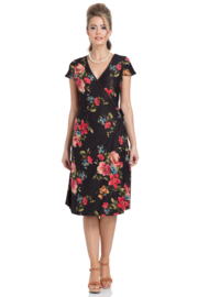 Voodoo Vixen, Sophia Floral Wrap Dress.