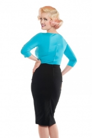 Dixiefried, Perfect Pencil Skirt in Black.