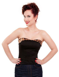 Steady Clothing, 50's Suntop in Black Leopard in medium.
