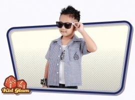 KidGlam, Flame Dice Gingham.