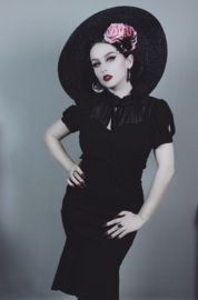 Voodoo Vixen, Acid Doll Blithe Noir 50's Pencil Skirt.