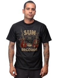 Steady, Sun Dance Mens Tee Black.