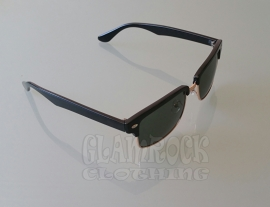 Revive, Clubmaster Square in Black / Green Glasses.